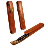 alston craig executive genuine leather pen case for cross brown olive 1 4