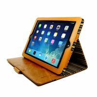 apple ipad 4 ac slimstand case vintage leather brown olive stripe 02 3 1 1