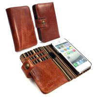 apple iphone 5s wallet case rf blocking alston craig vintage brown leather 1 7