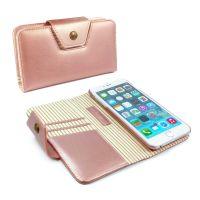 apple iphone 6 alston craig london magnetic ladies purse case rose gold stripe 1 1