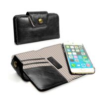apple iphone 6 alston craig london purse case vintage leather black pink stripe 1