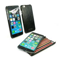 apple iphone 6 alston craig slim-shell case black vintage leather 1