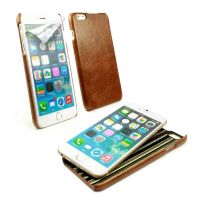 apple iphone 6 plus alston craig slim-shell case vintage leather brown 1