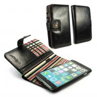 apple iphone 6 plus rfid magnetic wallet case alston craig vintage black leather 1 1