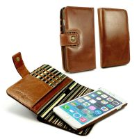 apple iphone 6 plus rfid magnetic wallet case alston craig vintage brown leather 1 2