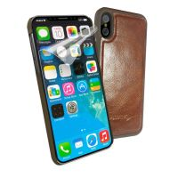 apple iphone 8 alston craig vintage leather shell magnetic replacement case brown 1 3