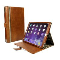 Alston Craig Personalised Vintage Genuine Leather Slim-Stand Case Cover for New iPad 10.2 (2019) - Brown