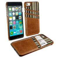 iphone 7 ac shell wallet phone case vintage leather brown 1 2