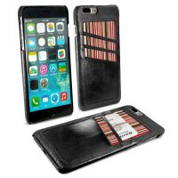iphone 7 plus ac shell wallet phone case vintage leather black 1 2