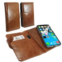iphone 8 magnetic vintage leather case brown 1 4