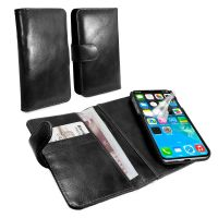 iphone x magnetic vintage leather case black 1