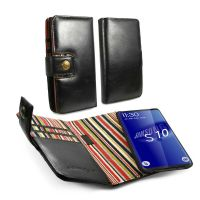 samsung s8 edge slim wallet magnetic case alston craig vintage black leather 1 4
