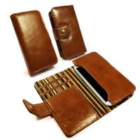 samsung galaxy s2 s3 s4 wallet case austin craig vintage brown leather olive stripe 1 2