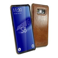 samsung galaxy s8 magnetic shell replacement case alston craig vintage brown leather 1 1