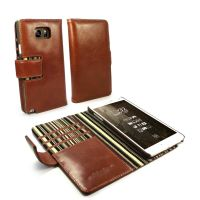 samsung note 5 case alston craig leather wallet vintage brown olive stripe 1 1