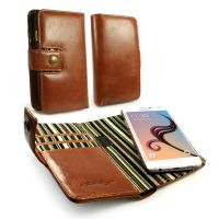 samsung s6 edge wallet magnetic case alston craig vintage brown leather 1 3